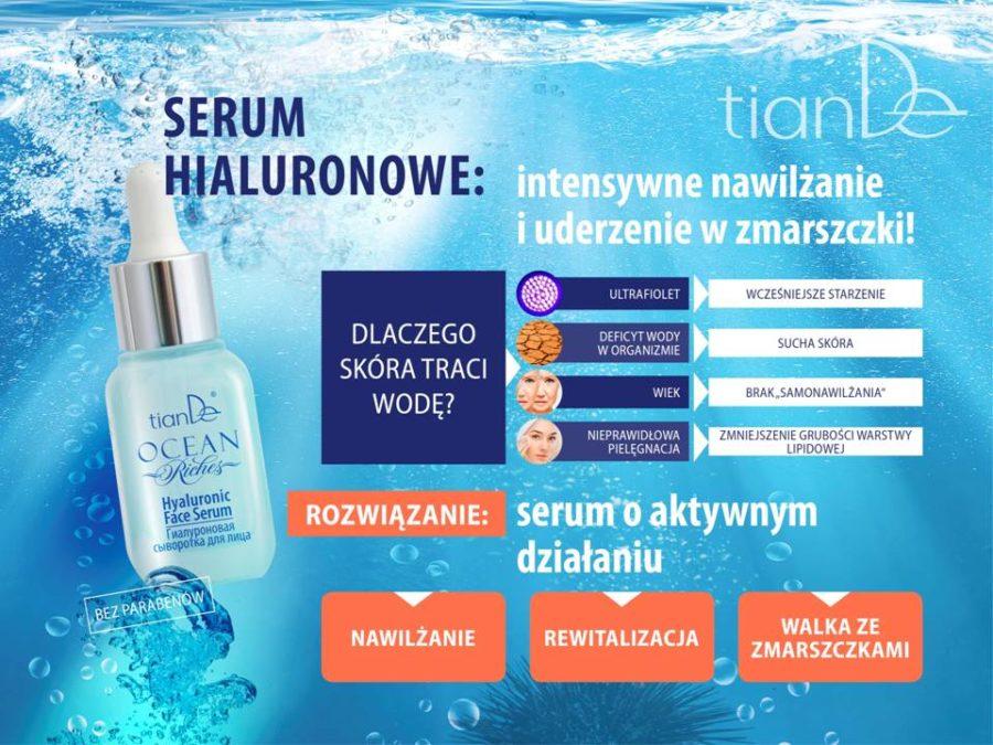 Hialuronowe serum do twarzy TianDe (16001) 25 ml, Seria Skarby Oceanu Tiande Kołobrzeg